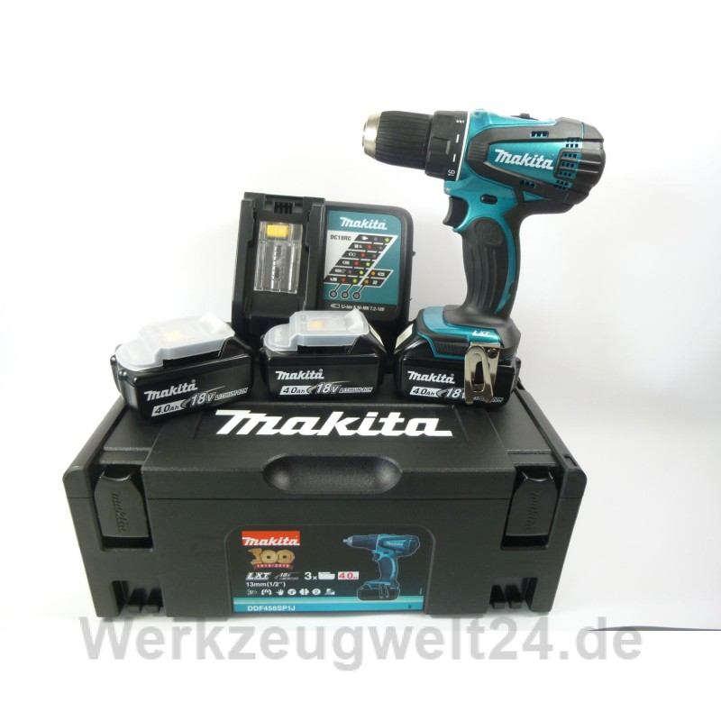 makita 18v akku bohrschrauber ddf456ksp1j sonderedition metallic 3. Black Bedroom Furniture Sets. Home Design Ideas