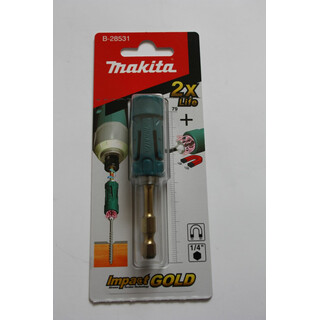 Makita Torsion Bit-Halter, Impact Gold, Bithalter 71mm lang, Ultra Mag, B-28531